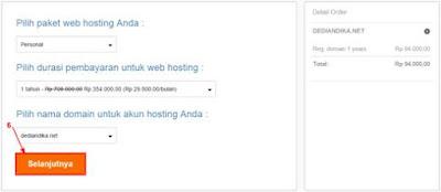 setting pembayaran hosting niagahoster