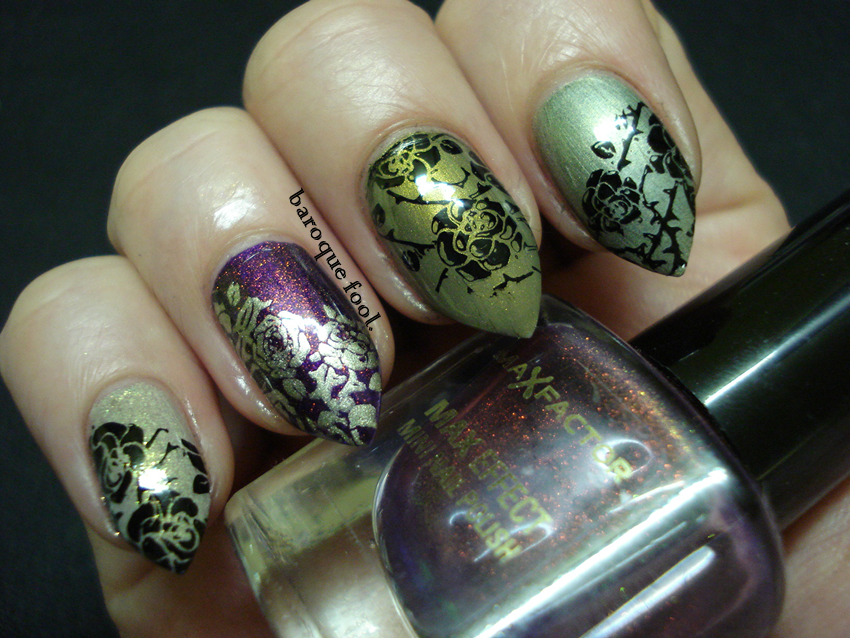 baroque fool: NOTD: Fall roses
