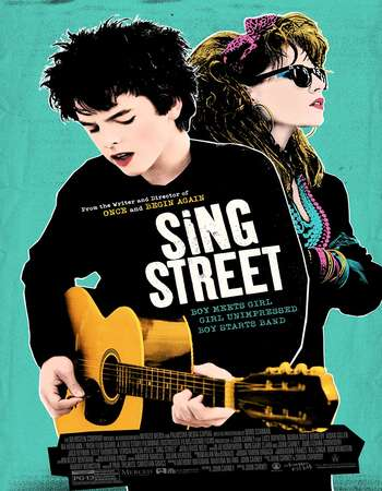 Poster Of Sing Street 2016 English 350MB BRRip 720p ESubs HEVC Free Download Watch Online Worldfree4u