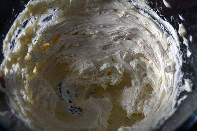 whisked and creamed butter