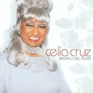 Foto de Celia Cruz en portada de disco