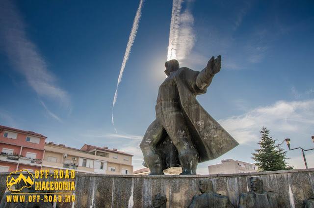 Goce Delchev monument - Strumica city square - Macedonia