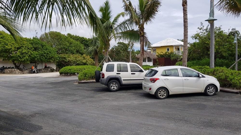 parking de playa Blanca de Punta Cana