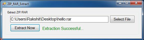 Code Era: Extract ZIP or RAR File Using C# Net Windows