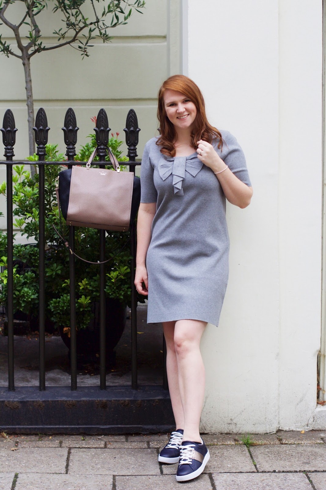 boden bow knitted dress