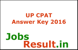 UP CPAT Answer Key 2016