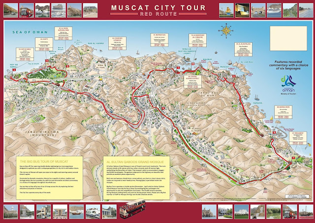 Muscat city tour map
