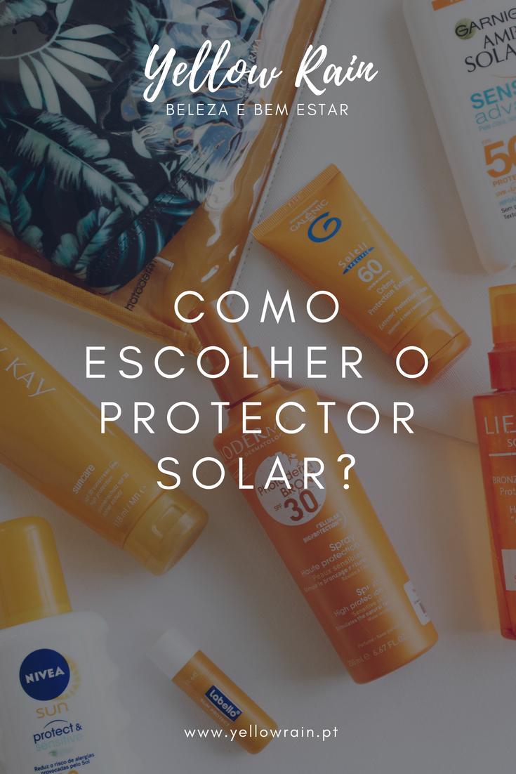 Como Escolher O Protector Solar?