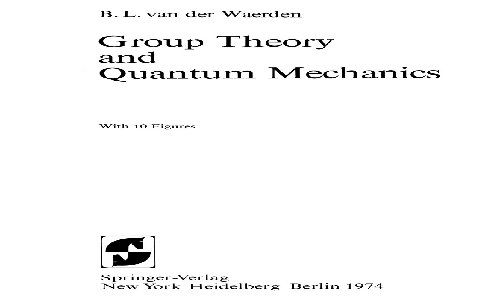 Free All books: Group Theory and Quantum Mechanics By B.L