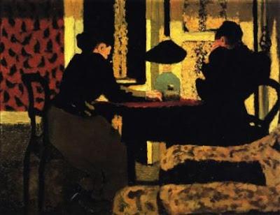 Édouard Vuillard, Deux femmes sous la lampe, 1892 https://www.centrepompidou.fr