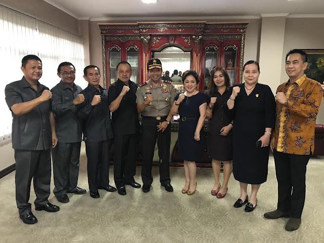 Kapolda Sulut Kunjungi DPRD Sulut