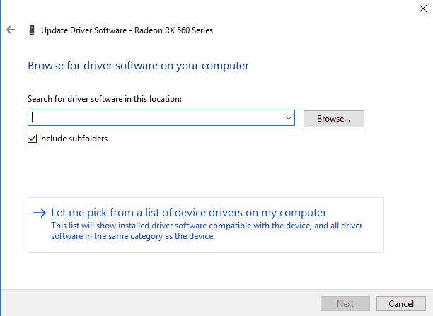 Pilih Driver