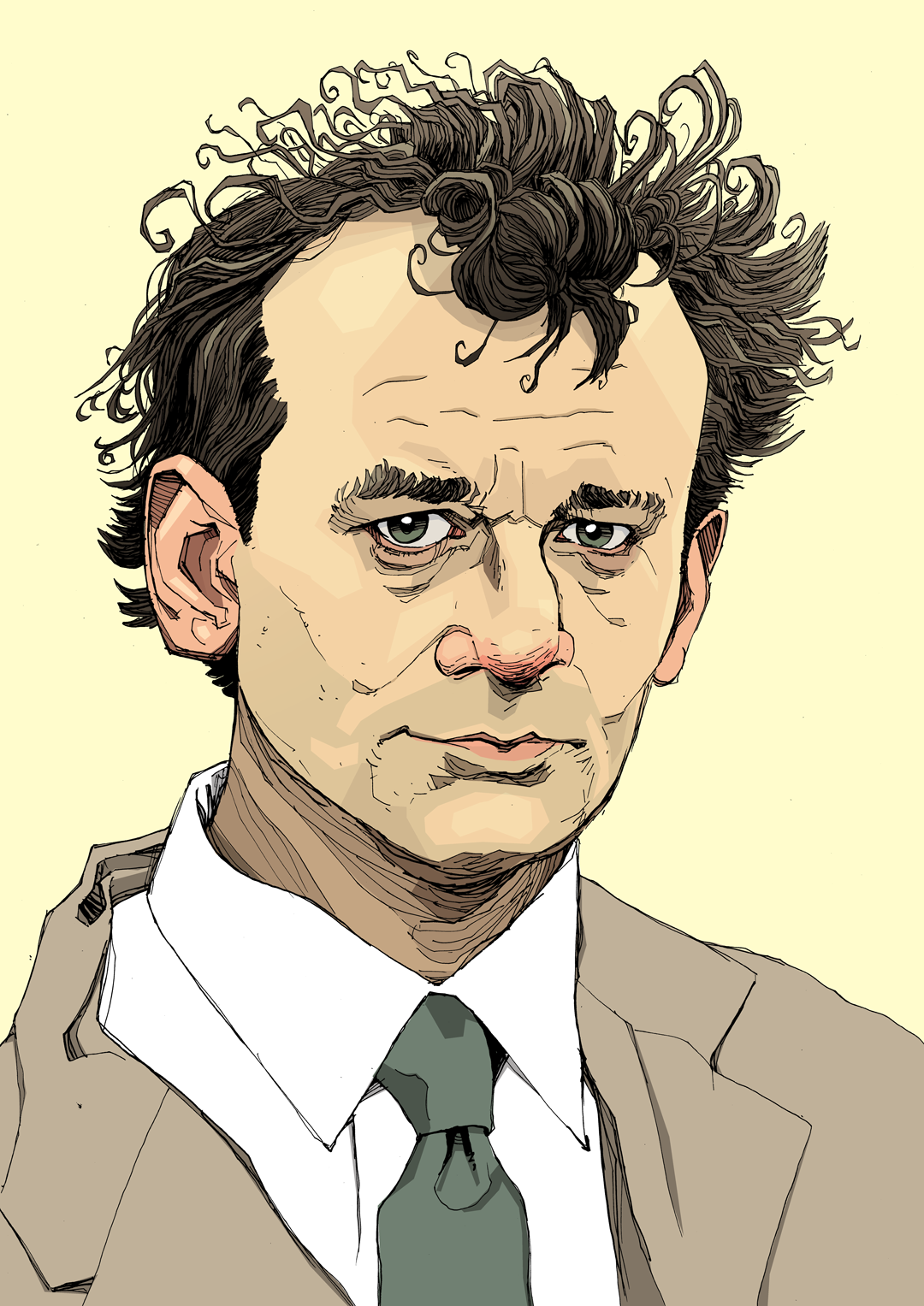 Illustration portrait Bill Murray Ghostbusters