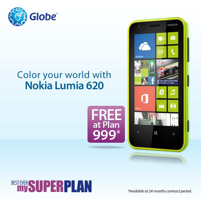 Globe brings Nokia Lumia 620 on their Postpaid Plan 999