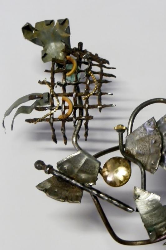 """Sculpture métal """"Miss Galinette"""" recyclage artistique par Ama sculpteur"""