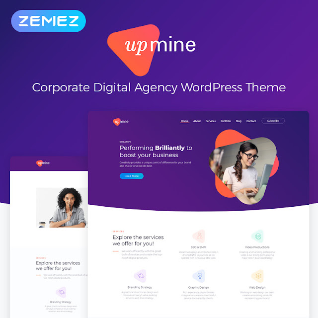 Upmine - Corporate Digital Agency WordPress Theme