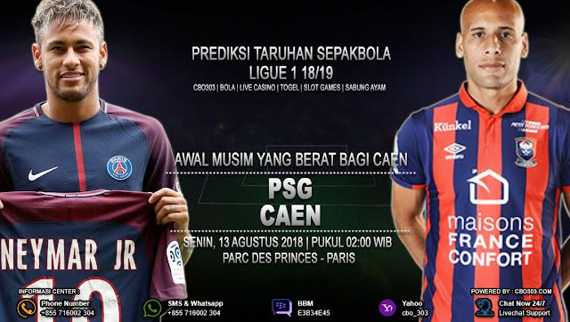 Prediksi Bola PSG VS Caen 13 Agustus 2018