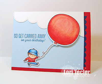 Go Get Carried Away card-designed by Lori Tecler/Inking Aloud-stamps and dies from Mama Elephant