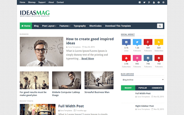Ideas Mag Free Blogger Template