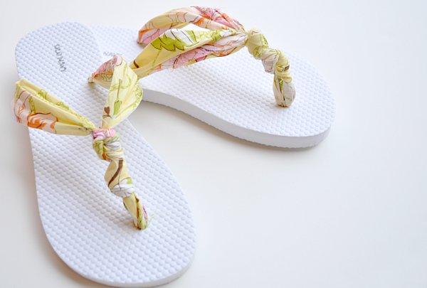 zapatillas, customizar, hawaianas, tunear, reciclar, manualidades