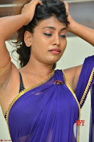Actress Priya in Blue Saree and Sleevelss Choli at Javed Habib Salon launch ~  Exclusive Galleries 004.jpg