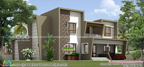 2850 square feet 4 bedroom contemporary Kerala home design