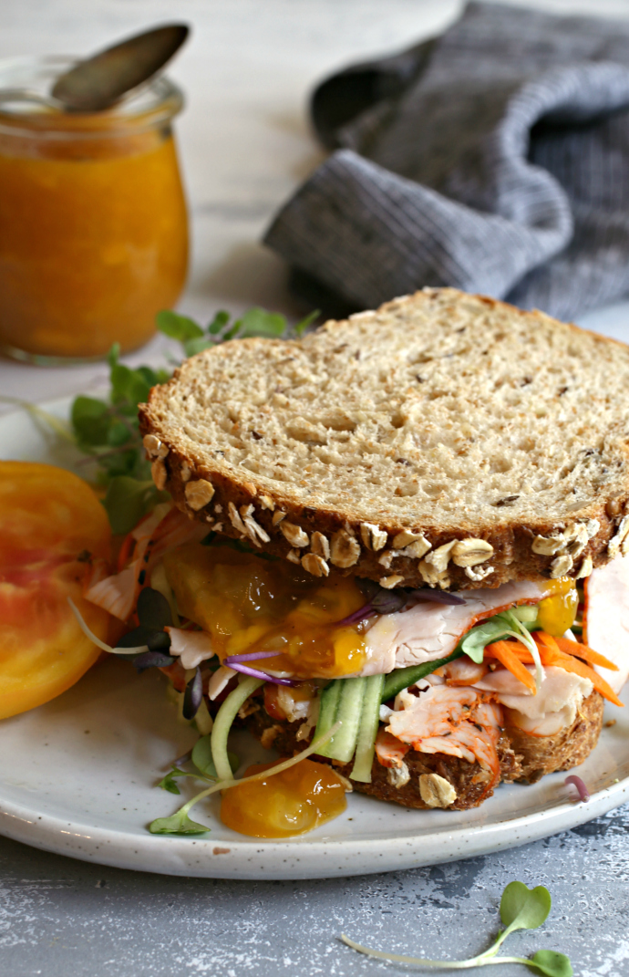 Loaded-Turkey-Sandwich-with-Sweet-and-Spicy-Mango-Honey-Sauce-1