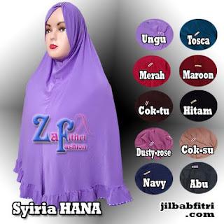 jilbab instan hana bahan spandek balon
