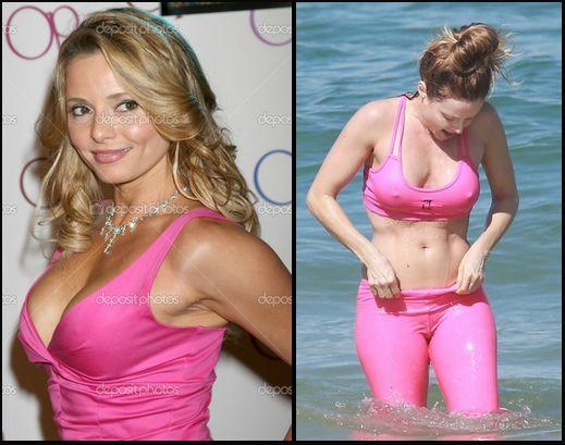 Fotos de Rita Guedes no mar com roupa de ginastica