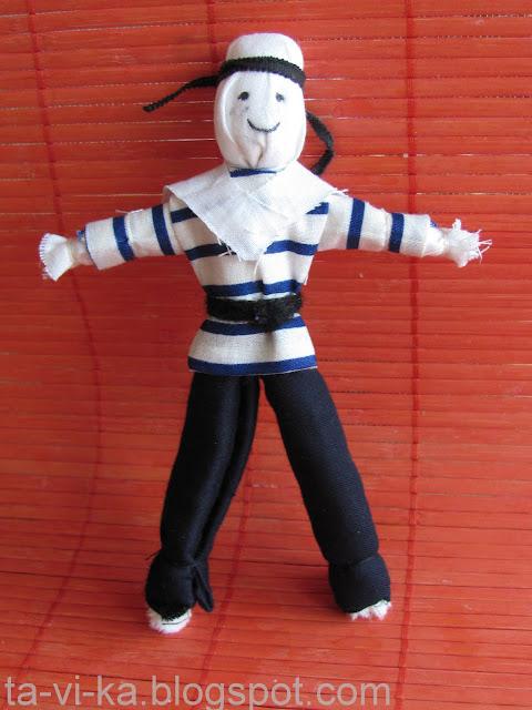 кукла из ткани моряк