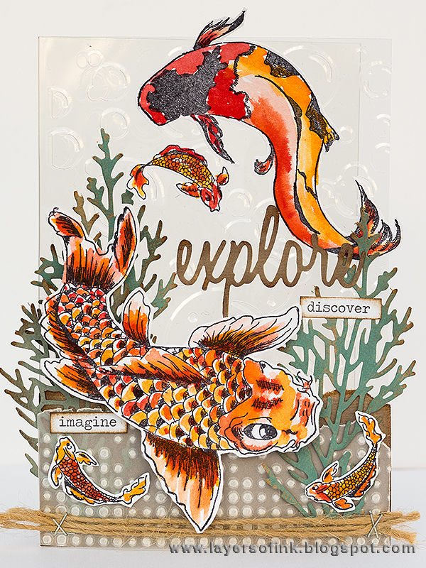 Layers of ink - Explore the Ocean Clear Card by Anna-Karin