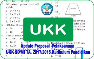 Update Proposal  Pelaksanaan UKK SD/MI TA. 2017/2018 Kurikulum Pendidikan