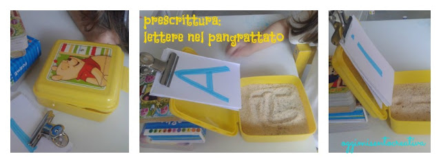 Sviluppare capacità di prescrittura attraverso un'attività montessori: un portamerenda con pangrattato