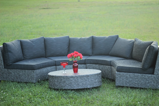 Best Choice Products 5-Piece Semi-Circle Wicker Sectional Sofa Review