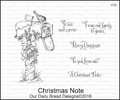 Our Daily Bread Designs Stamp Set: Christmas Note