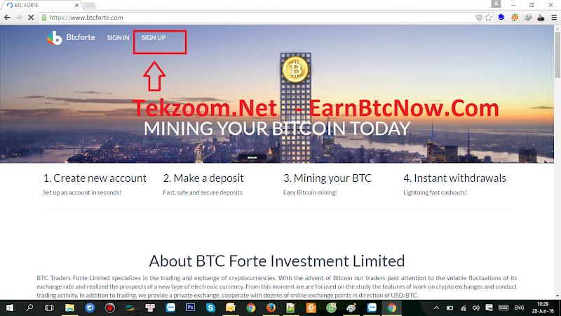 [SCAM][HIYP] Hướng dẫn đào Bitcoin tự động với Btcforte (Mining Bitcoin BTC), lãi 160% sau 30h