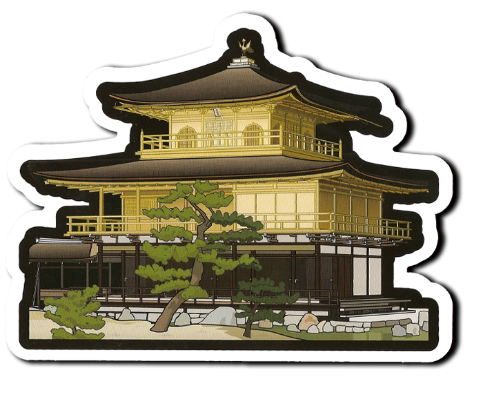 gotochi card du Kinkaku-ji, édition spéciale patrimoine mondial