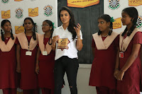 Actress Priya Anand in T Shirt with Students of Shiksha Movement Events 52.jpg