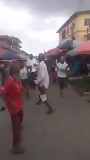 Market Women In Owerri, Others On The Run Because Of Soldiers (Photos, Video)