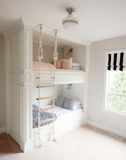 dormitorio moderno con litera