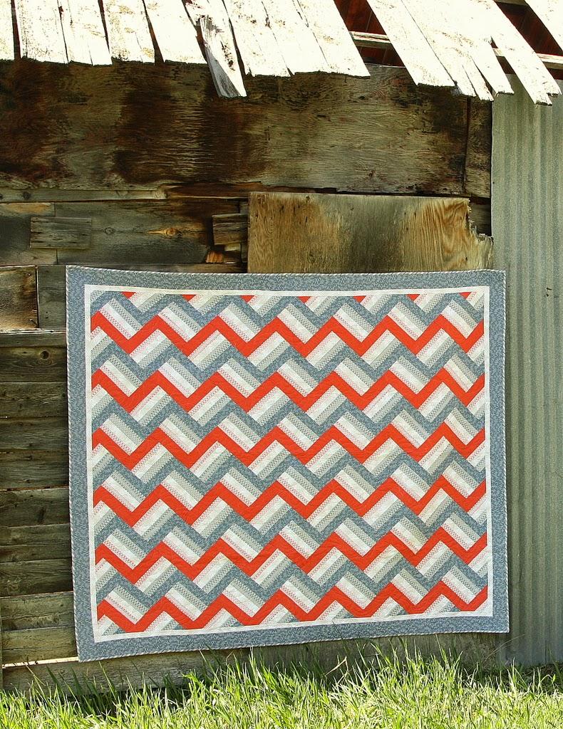 Fast strip-piece quilt pattern, Zig, by Amy Smart