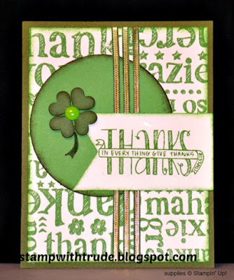 Banner Blast, World of Thanks, Thank You card, Mojo Monday 438, Stamp with Trude, Stampin' Up!
