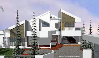 Rumah setelah direnovasi menggunakan jasa arsitek