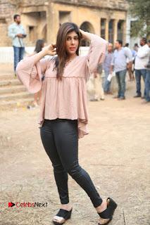 Telugu Actress Aditi Singh Stills in Leather Pants at Nenu Kidnap Iyanu Movie Press Meet  0234.JPG