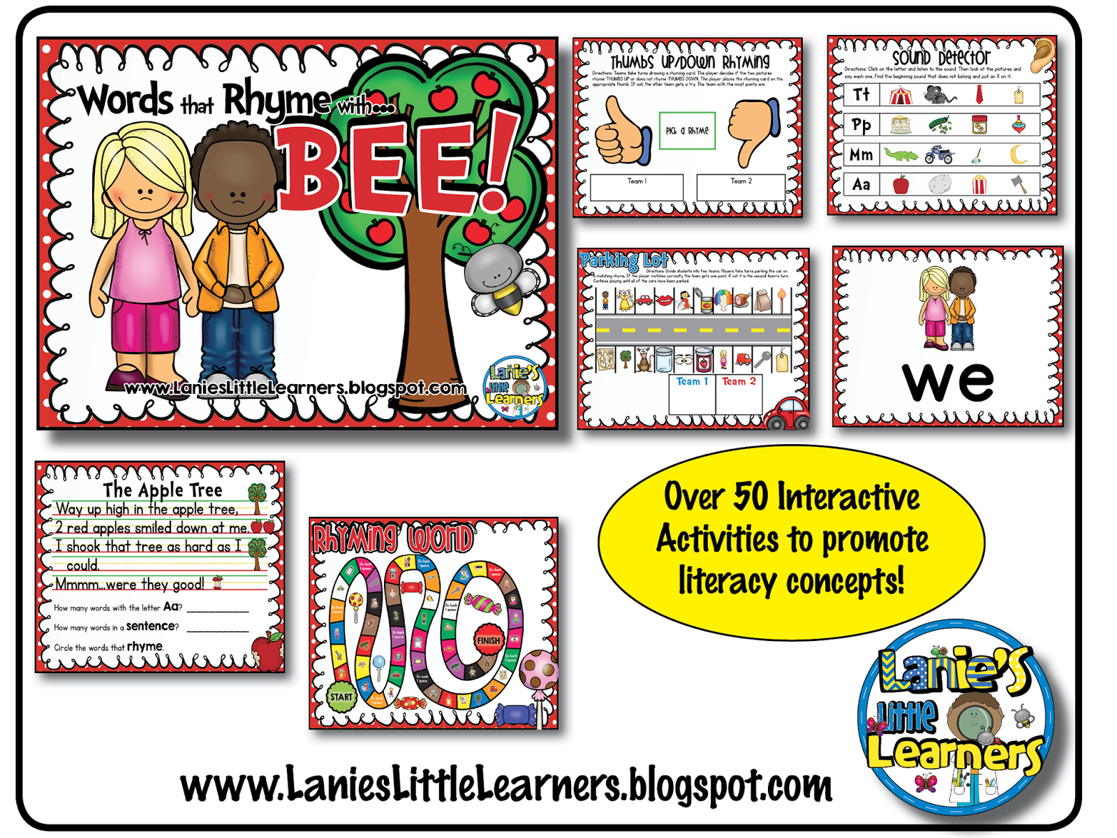 Lanie S Little Learners The Apple Tree Nursery Rhyme Printable Amp Smartboard Activities