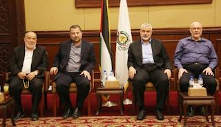 """المكتب السياسي لـ""""حماس"""" ينشر تفاصيل اللقاءات التي أجراها بغزة بخصوص المصالحة والهدنة  التفا صلي من هناا"""