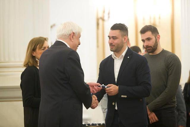 Ο Αργείτης πρωταθλητής Μάριος Τσουρδίνης βραβεύθηκε από τον Πρόεδρο της Ελληνικής Δημοκρατίας