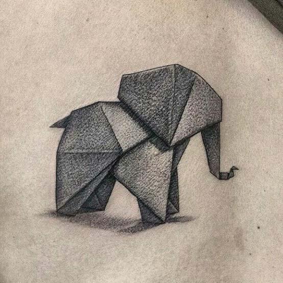 triangle elephant tattoo