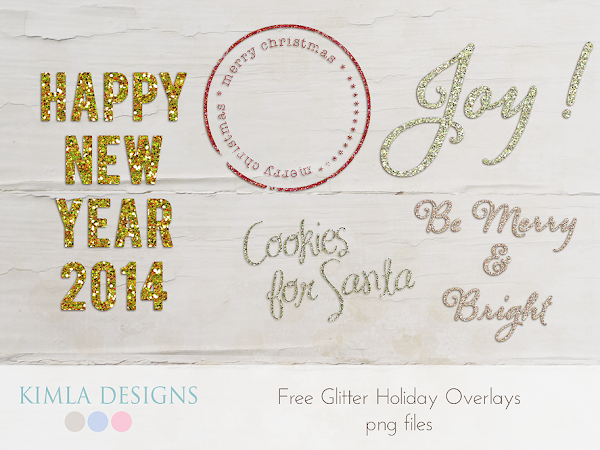 New Freebie | Glitter Holiday Overlays | kimla designs | photography designs