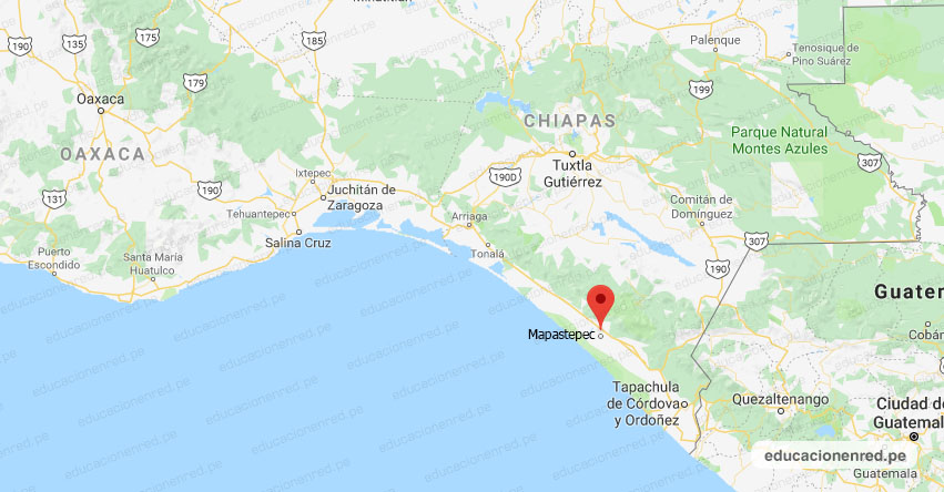Temblor en México de Magnitud 4.1 (Hoy Sábado 27 Abril 2019) Sismo - Terremoto - EPICENTRO - Mapastepec - Soconusco - Chiapas - SSN - www.ssn.unam.mx